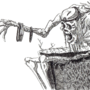 Inktober 2019 Day 5: Skeleton on a Throne