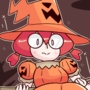 obligatory pumpkin witch