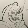 Inktober19 - Day8 : Skeletor Sans