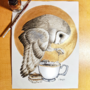 Inktober Day 8: Tea Owl