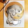 Inktober Day 8: Tea Owl