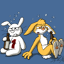 Drinking bunnies by teh-octan
