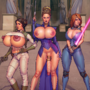 Commission. Leia, Padme and Mara