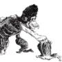 Inktober 2019 Days 15: Crawling Ape