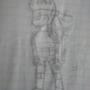 me the drawn version in pencil