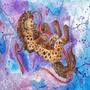 Floating Yuetu - watercolor painting