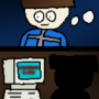 Comic of Eduardo bobopter (pixel, effects and my oc)
