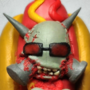 Torture boy in hot dog costume