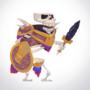 Skeleton Warrior - Slash Animation