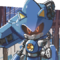 Metal Sonic, but he has a cannon and a chainsaw