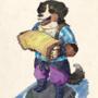 Inktober day 27: the homeless x bernese mountain dog