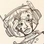 Sandra in the Gnarly Nebula - Inktober
