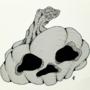 Inktober Day 29: Skull Pumpkin