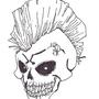 Punk Rock skull by rafesta