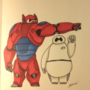 Baymax with and without armor