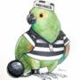 Inktober Day 23: Birdcrimes