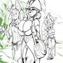 A Zuzu Welcome - prelim sketch