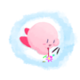 Kirby doodle doing doodles.