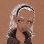 Vampire girl portrait