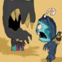 Bendy scares Krampus