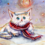 Winter/Holiday card collection: Snowy Kitty