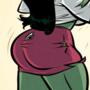 She-Hulk - Legally Green - Cartoon PinUp