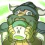 Dwarf licks a myconid