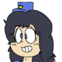cute cartoony police chick