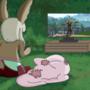 nanachi and Mitty enjoying a good game of Fortnite