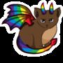 rainbow cat dragon sticker