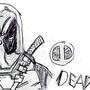 deadpool sketch by tibistar