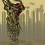 Catafalque Bot in Ghost City by Android-Music