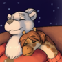 Christmas snuggles commission