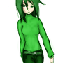 Lily the green girl by CoreClock