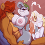 Patreon Slap, Minerva, and Todd - Full Color
