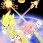 super sonic and hyper knuckles by skipPer1