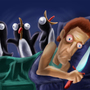 Annoying Penguins in bed