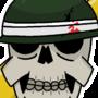 Helmet skull (sticker design)