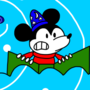 Sorcerer Mickey Caught In The Whirlpool