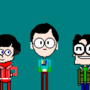 Big Bang Theory Pixel Characters