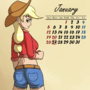 AJ pin-up calendar