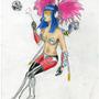 cyber punk sex queen color by Zalrohg