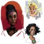 Coloured doodles 2