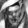 Figure Drawing - Model with Veil