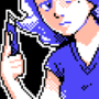 Pixel Art Girl With Boxcutter