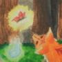 Watercolor Kitsune