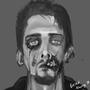 Zombie Self Portrait by Rhunyc