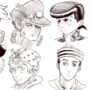 sketchs of jojo faces
