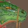 DnD Portrait: Druid Lizardfolk