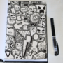 Black and White Doodle Art